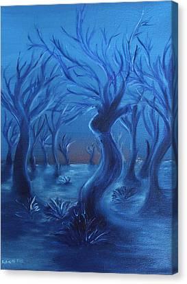 Blue Lady Canvas Print by Felix Concepcion