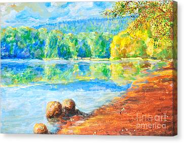 Blue Lake Canvas Print by Martin Capek