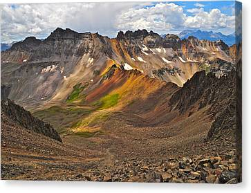 Blue Lakes Pass Canvas Print by Aaron Spong
