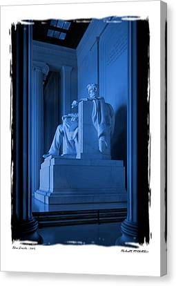 Blue Lincoln Canvas Print by Mike McGlothlen