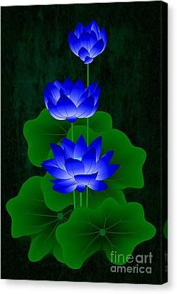 Blue Lotus Canvas Print by Maurisca Sardju