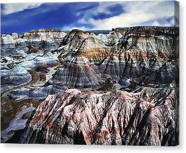 Blue Mesa - Painted Desert Canvas Print by Bob and Nadine Johnston