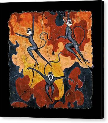 Blue Monkeys No. 8 Canvas Print by Steve Bogdanoff