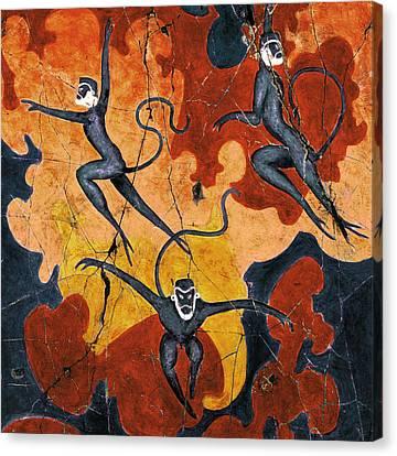 Blue Monkeys No. 8 - Study No. 1 Canvas Print by Steve Bogdanoff