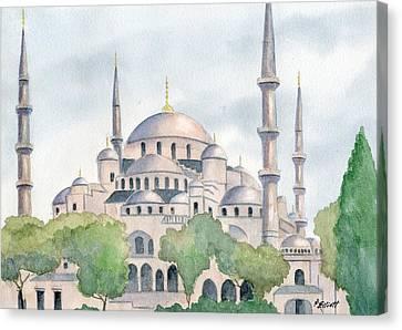 Blue Mosque Canvas Print by Marsha Elliott