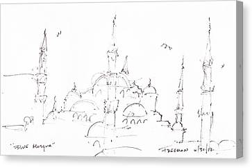 Blue Mosque Canvas Print by Valerie Freeman