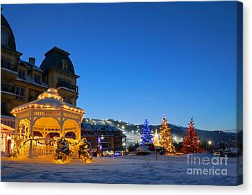 Blue Mountain Night Canvas Print by Charline Xia