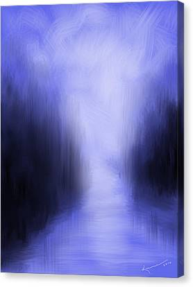 Blue Night Canvas Print by Kume Bryant