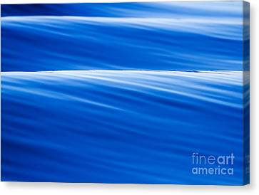 Blue Ocean Waves Abstract Canvas Print by Dustin K Ryan