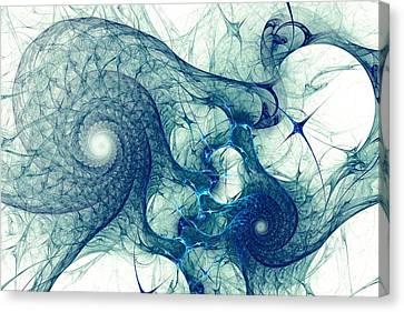 Blue Octopus Canvas Print by Anastasiya Malakhova