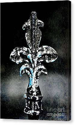 Blue On Black Canvas Print by Scott Pellegrin