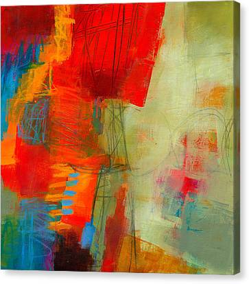 Blue Orange 1 Canvas Print by Jane Davies