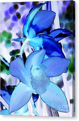 Blue Orchids Canvas Print by Kathleen Struckle