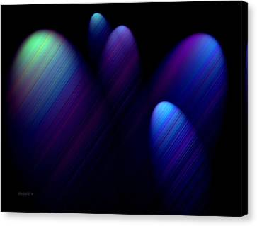 Blue Ovals With Lines Canvas Print by Mario Perez