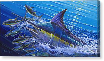 Blue Persuader  Canvas Print by Carey Chen