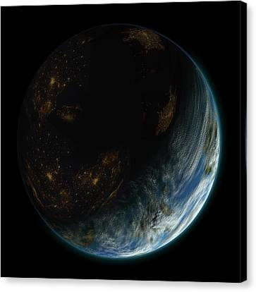 Blue Planet No.9 Canvas Print by Marc Ward