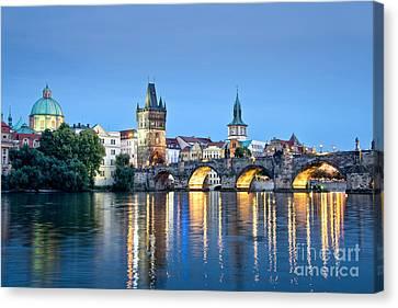 Blue Prague Canvas Print by Delphimages Photo Creations