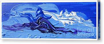 Blue Purple  Abstract Canvas Print by Eric  Schiabor