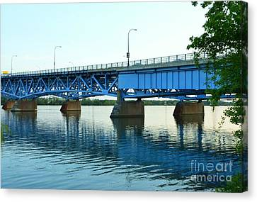 Blue Reflections Canvas Print by Kathleen Struckle