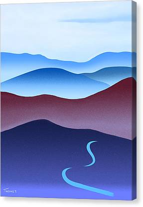 Blue Ridge Blue Road Canvas Print by Catherine Twomey