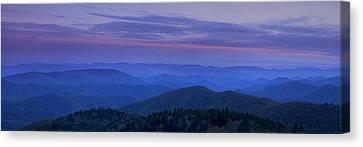 Blue Ridge Panorama At Dusk Canvas Print by Andrew Soundarajan