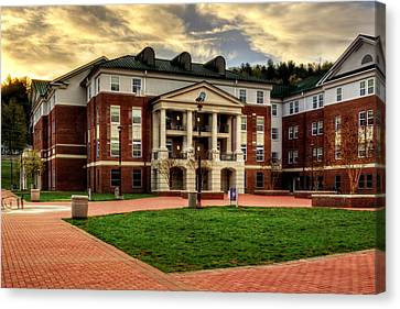 Blue Ridge Residence Hall - Wcu Canvas Print by Greg and Chrystal Mimbs