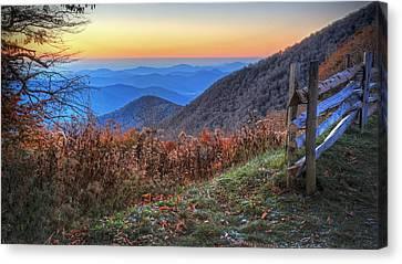 Blue Ridge Sunrise Canvas Print by Jaki Miller