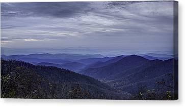 Blue Ridge Canvas Print by Walt  Baker