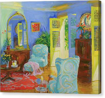 Blue Room, 20078 Oil On Board Canvas Print by William Ireland