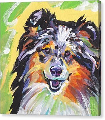 Blue Sheltie Canvas Print by Lea S