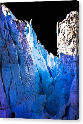 Blue Shivers Canvas Print by Karen Wiles