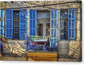 Blue Shutters Canvas Print by Ken Smith