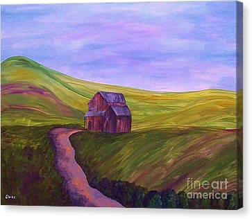 Blue Skies In The Hill Country Canvas Print by Eloise Schneider