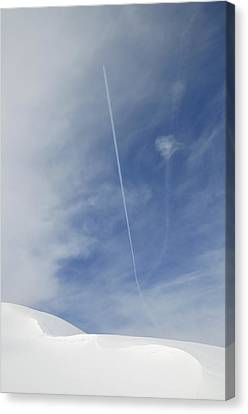 Blue Sky And Snow Canvas Print by Matthias Hauser