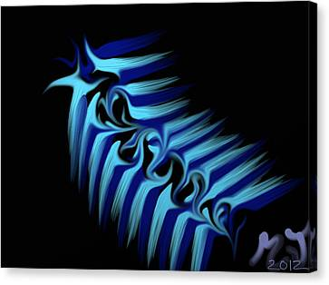 Blue Slug Canvas Print by Michael Jordan