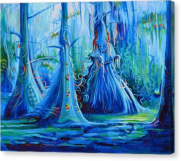 Blue Spirit Trees Canvas Print by Janet Oh