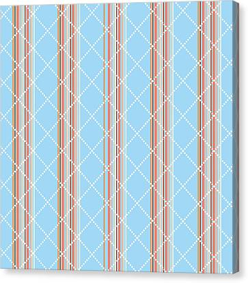Blue Stripe Pattern Canvas Print by Christina Rollo