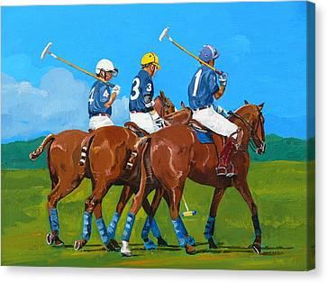 Blue Team Canvas Print by Janina  Suuronen