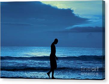 Blue Thoughts Canvas Print by Jeff Breiman