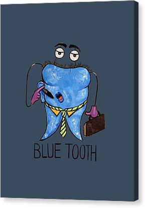Blue Tooth Dental Art By Anthony Falbo Canvas Print by Anthony Falbo