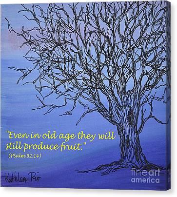 Blue Tree Canvas Print by Kathleen Pio