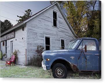 Blue Truck Canvas Print by Jim Baker