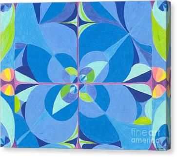 Blue Unity Canvas Print by Kim Sy Ok