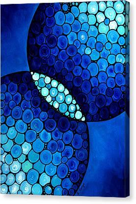 Blue Unity Canvas Print by Sharon Cummings