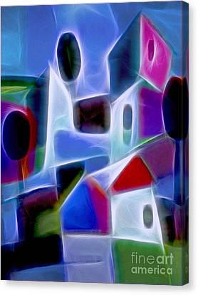 Blue Village Canvas Print by Lutz Baar