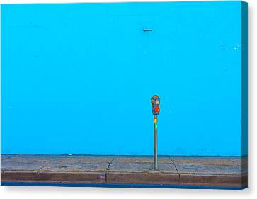 Blue Wall Parking Canvas Print by Darryl Dalton