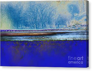 Blue Water Canvas Print by Carol Lynch