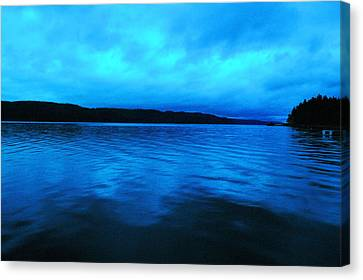 Blue Water In The Morn  Canvas Print by Jeff Swan