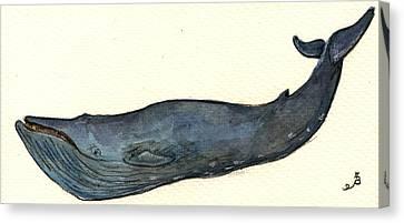 Blue Whale Canvas Print by Juan  Bosco