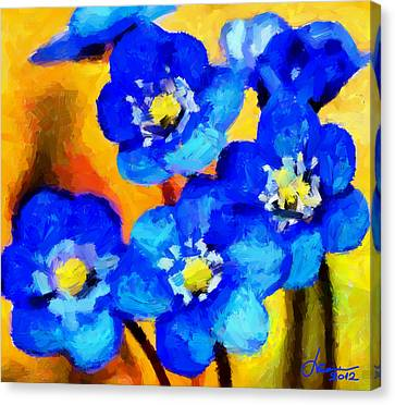 Blue Wild Flowers Tnm Canvas Print by Vincent DiNovici